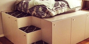 IKEA Hack Platform Bed Is The Mac Daddy For Storage Space!