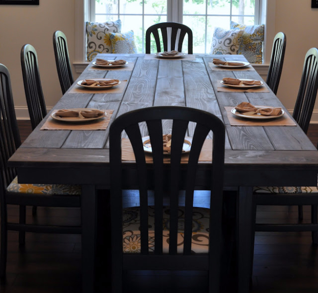 DIY Dining Room Table Projects - Ikea Hack Farmhouse Dining Table - Creative Do It Yourself Tables and Ideas You Can Make For Your Kitchen or Dining Area. Easy Step by Step Tutorials that Are Perfect For Those On A Budget #diyfurniture #diningroom