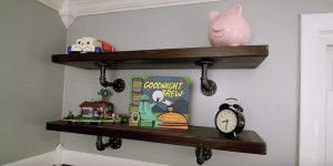 Unique & Different Industrial Iron Pipe Shelving is Sure to Impress!