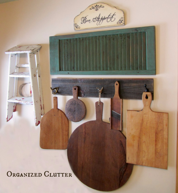 DIY Farmhouse Style Decor Ideas - Kitchen Wall Display - Creative Rustic Ideas for Cool Furniture, Paint Colors, Farm House Decoration for Living Room, Kitchen and Bedroom #diy #diydecor #farmhouse #countrycrafts