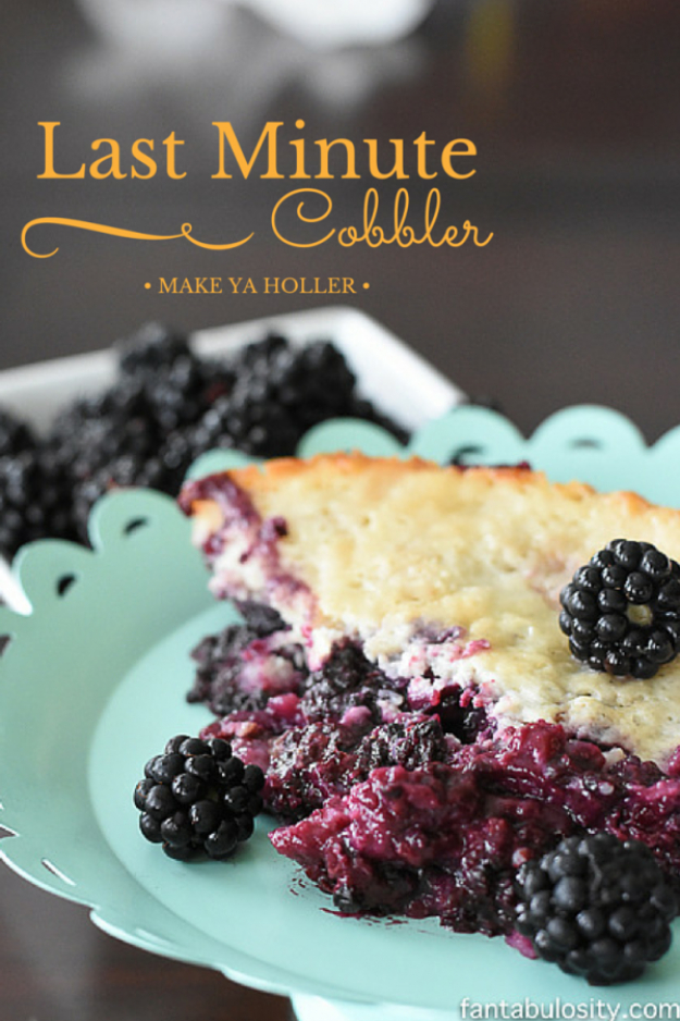 Last Minute Dessert Recipes and Ideas - Last Minute Cobbler - Healthy and Easy Ideas for No Bake Recipe Foods, Chocolate, Peanut Butter. Best Simple Ideas for Summer, For A Crowd and for Parties