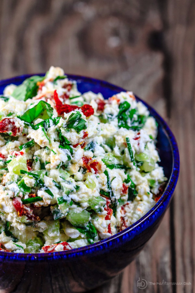 Last Minute Party Foods - Last Minute Mediterranean Feta Cheese Dip - Easy Appetizers, Simple Snacks, Ideas for 4th of July Parties, Cookouts and BBQ With Friends. Quick and Cheap Food Ideas for a Crowd#appetizers #recipes #party