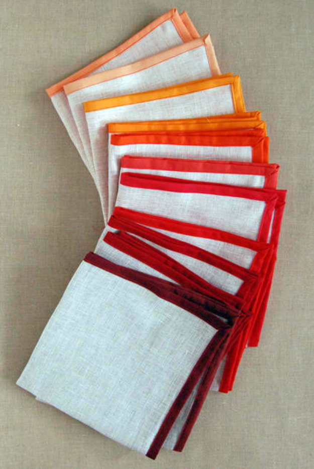 Sewing Crafts To Make and Sell - Linen Napkins - Easy DIY Sewing Ideas To Make and Sell for Your Craft Business. Make Money with these Simple Gift Ideas, Free Patterns, Products from Fabric Scraps, Cute Kids Tutorials #sewing #crafts