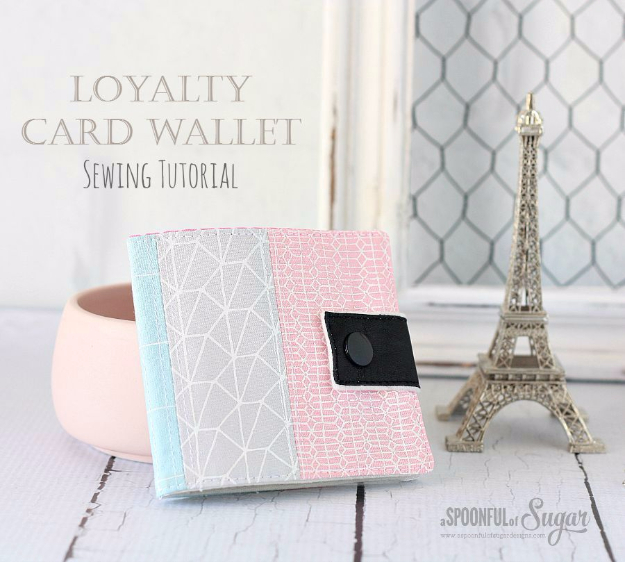Sewing Crafts To Make and Sell - Loyalty Card Wallet - Easy DIY Sewing Ideas To Make and Sell for Your Craft Business. Make Money with these Simple Gift Ideas, Free Patterns, Products from Fabric Scraps, Cute Kids Tutorials #sewing #crafts