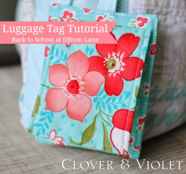 Sewing Crafts To Make and Sell - Luggage Tag Tutorial - Easy DIY Sewing Ideas To Make and Sell for Your Craft Business. Make Money with these Simple Gift Ideas, Free Patterns, Products from Fabric Scraps, Cute Kids Tutorials #sewing #crafts