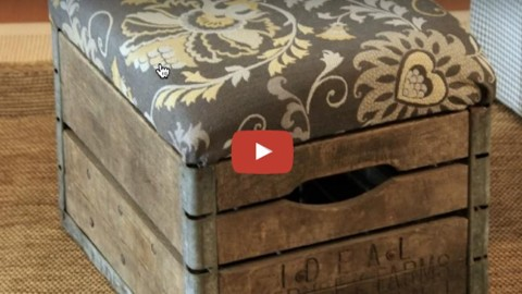 This Rustic Milk Crate Ottoman is So Stylish & Easy to Make! | DIY Joy Projects and Crafts Ideas