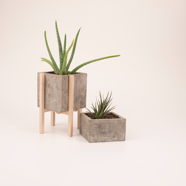 Creative DIY Planters - Modern Concrete Wood Planters - Best Do It Yourself Planters and Crafts You Can Make For Your Plants - Indoor and Outdoor Gardening Ideas - Cool Modern and Rustic Home and Room Decor for Planting With Step by Step Tutorials #gardening #diyplanters #diyhomedecor