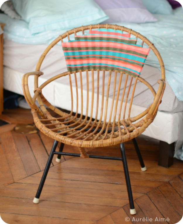 DIY Seating Ideas - Navajo Inspired Chair - Creative Indoor Furniture, Chairs and Easy Seat Projects for Living Room, Bedroom, Dorm and Kids Room. Cheap Projects for those On A Budget. Tutorials for Cushions, No Sew Covers and Benches