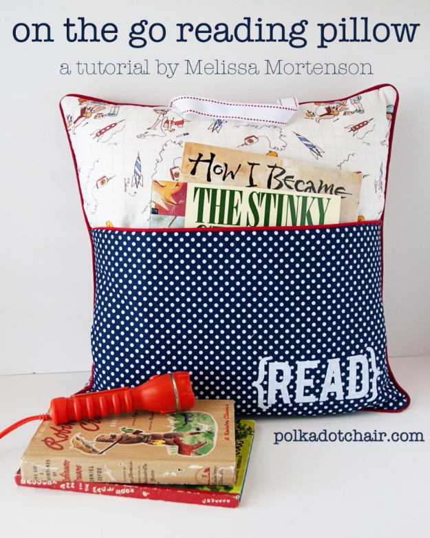DIY Projects to Make and Sell on Etsy - On The Go Reading Pillow - Learn How To Make Money on Etsy With these Awesome, Cool and Easy Crafts and Craft Project Ideas - Cheap and Creative Crafts to Make and Sell for Etsy Shop #etsy #crafts