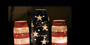 Patriotic Mason Jar Candle Holders To Ramp Up Your 4th Of July Celebration!