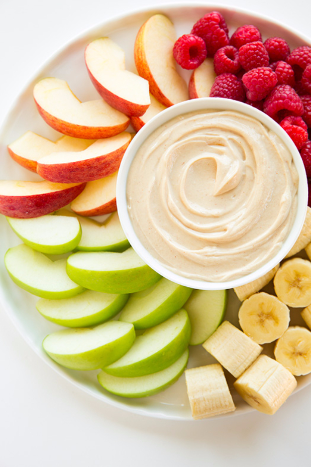 Last Minute Dessert Recipes and Ideas - Peanut Butter Fruit Dip - Healthy and Easy Ideas for No Bake Recipe Foods, Chocolate, Peanut Butter. Best Simple Ideas for Summer, For A Crowd and for Parties