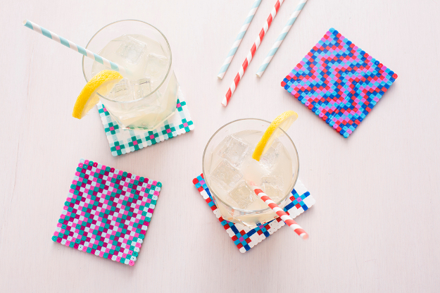 DIY Projects to Make and Sell on Etsy - Perler Bead Coasters - Learn How To Make Money on Etsy With these Awesome, Cool and Easy Crafts and Craft Project Ideas - Cheap and Creative Crafts to Make and Sell for Etsy Shop #etsy #crafts