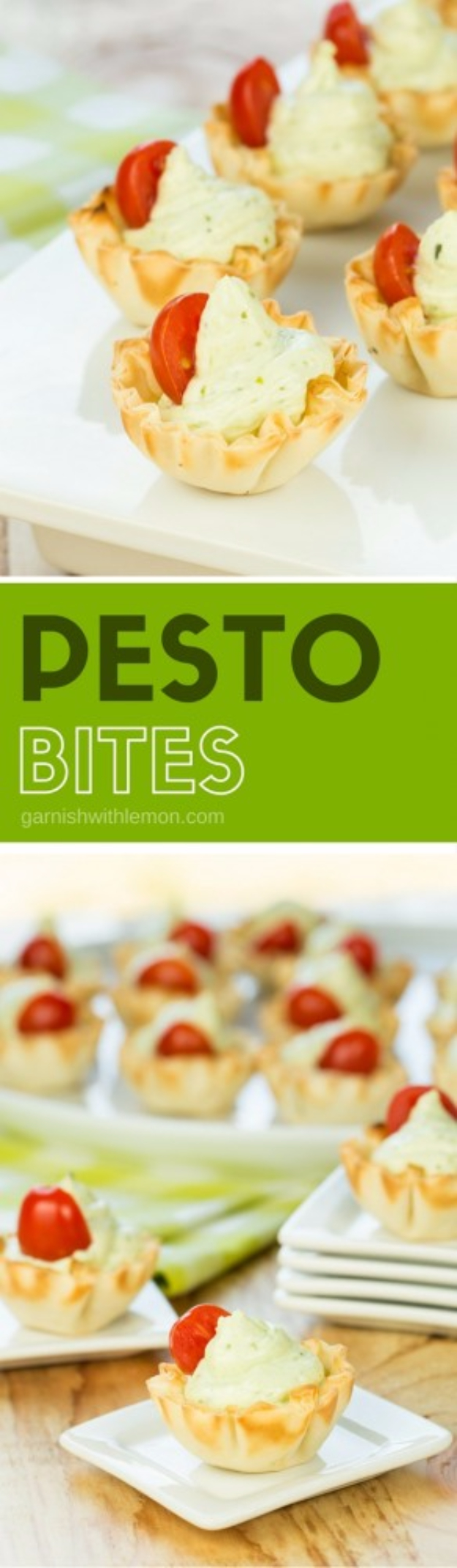 Last Minute Party Foods - Pesto Bites - Easy Appetizers, Simple Snacks, Ideas for 4th of July Parties, Cookouts and BBQ With Friends. Quick and Cheap Food Ideas for a Crowd#appetizers #recipes #party