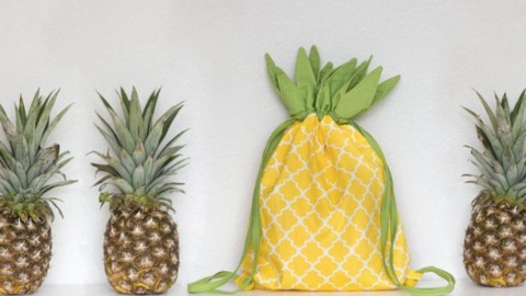 Easy to Sew Adorable Pineapple Backpack That is Almost Edible! | DIY Joy Projects and Crafts Ideas
