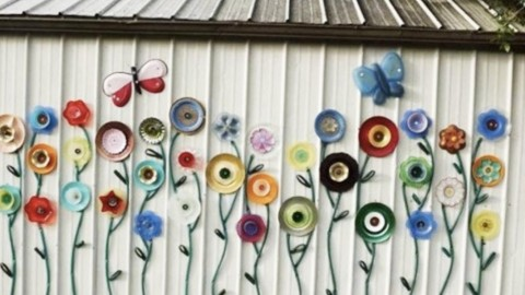 Garden Hose and Plate Outdoor Art Idea   DIY Joy Projects and Crafts Ideas