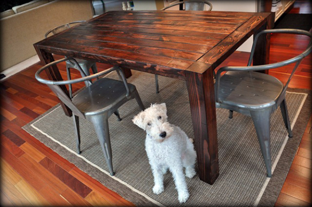 DIY Dining Room Table Projects - Plywood and Lumber Table - Creative Do It Yourself Tables and Ideas You Can Make For Your Kitchen or Dining Area. Easy Step by Step Tutorials that Are Perfect For Those On A Budget #diyfurniture #diningroom
