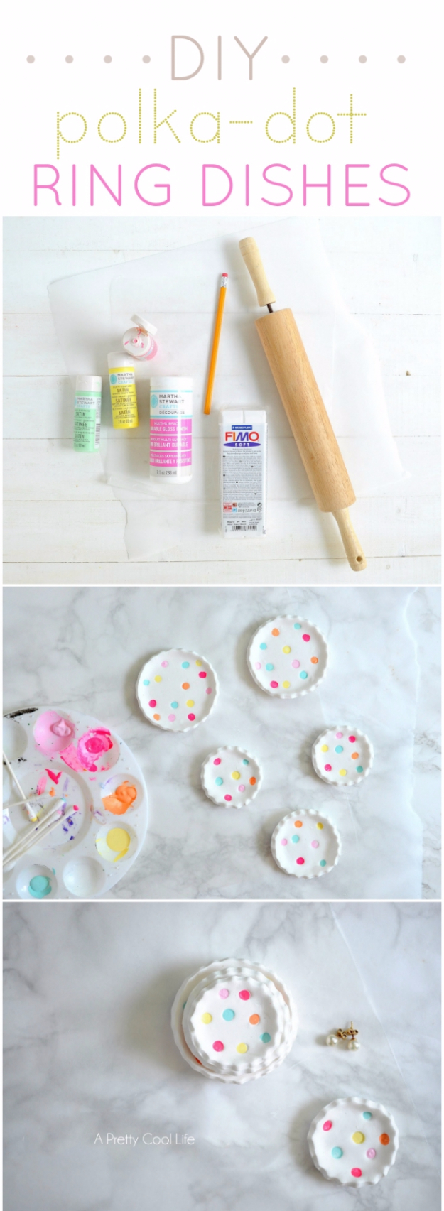 Cheap Crafts To Make and Sell - Polka Dot Ring Dishes - Inexpensive Ideas for DIY Craft Projects You Can Make and Sell On Etsy, at Craft Fairs, Online and in Stores. Quick and Cheap DIY Ideas that Adults and Even Teens Can Make on A Budget #diy #crafts #craftstosell #cheapcrafts