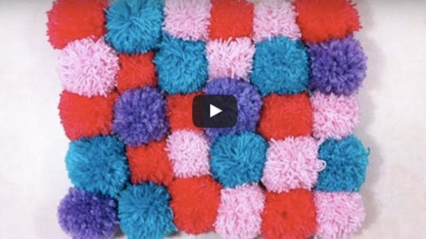 Cozy, Soft & Plush Pom Pom Rug is so Easy to Make!   DIY Joy Projects and Crafts Ideas