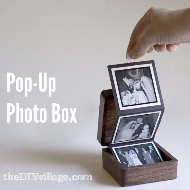 Cheap Crafts To Make and Sell - Pop Up Photo Box - Inexpensive Ideas for DIY Craft Projects You Can Make and Sell On Etsy, at Craft Fairs, Online and in Stores. Quick and Cheap DIY Ideas that Adults and Even Teens Can Make on A Budget #diy #crafts #craftstosell #cheapcrafts