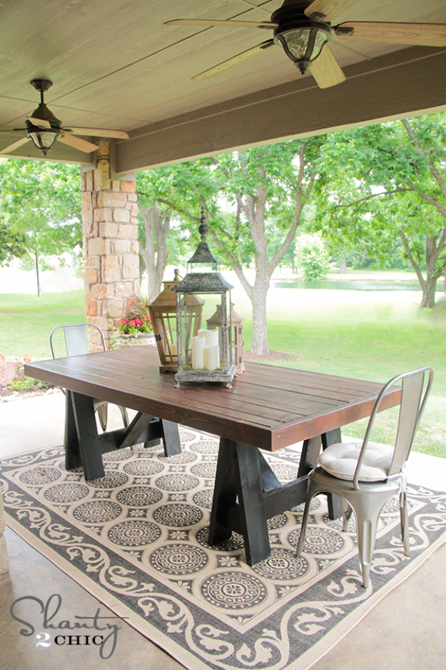 DIY Dining Room Table Projects - Pottery Barn Inspired Dining Table - Creative Do It Yourself Tables and Ideas You Can Make For Your Kitchen or Dining Area. Easy Step by Step Tutorials that Are Perfect For Those On A Budget #diyfurniture #diningroom