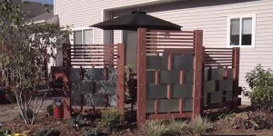 Protect Your Privacy With This DIY Modern Upscale Privacy Screen