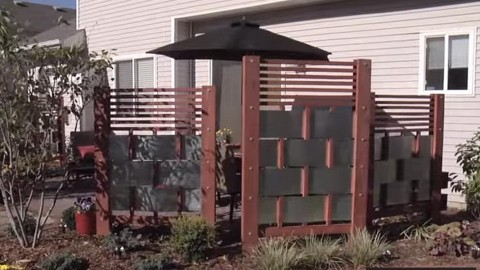 Protect Your Privacy With This DIY Modern Upscale Privacy Screen   DIY Joy  Projects and Crafts
