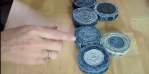 She Cuts Strips From Jeans And Rolls Them. What She Makes Is Absolutely Incredible!