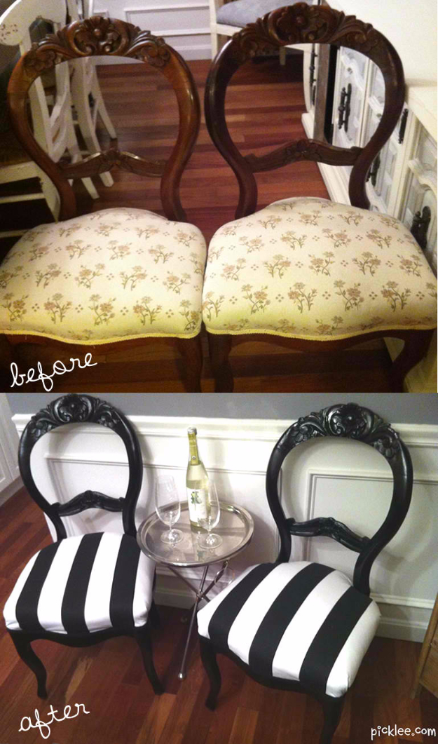 DIY Seating Ideas - Reclaimed Victorian Balloon Back Chairs - Creative Indoor Furniture, Chairs and Easy Seat Projects for Living Room, Bedroom, Dorm and Kids Room. Cheap Projects for those On A Budget. Tutorials for Cushions, No Sew Covers and Benches