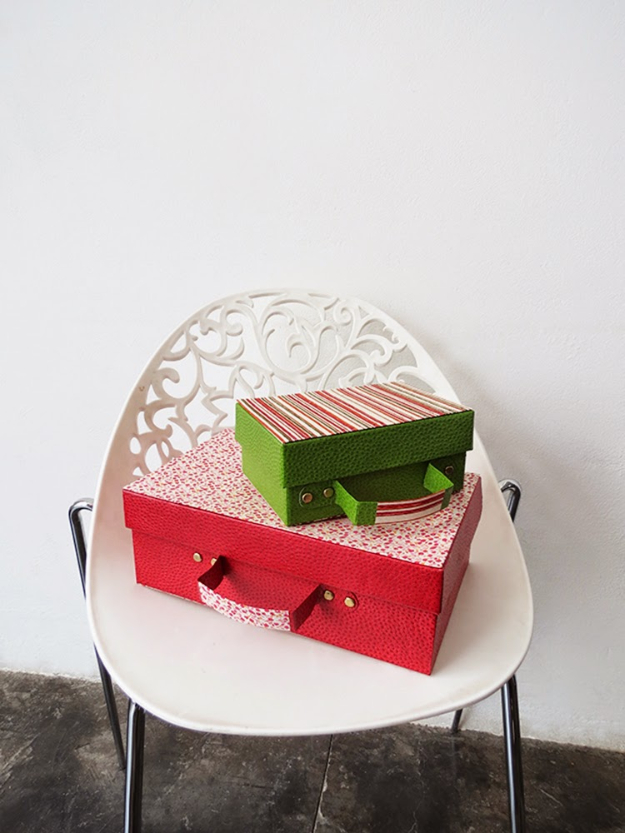 DIY Projects for Teenagers - Recycled Shoe Box Suitcase - Cool Teen Crafts Ideas for Bedroom Decor, Gifts, Clothes and Fun Room Organization. Summer and Awesome School Stuff