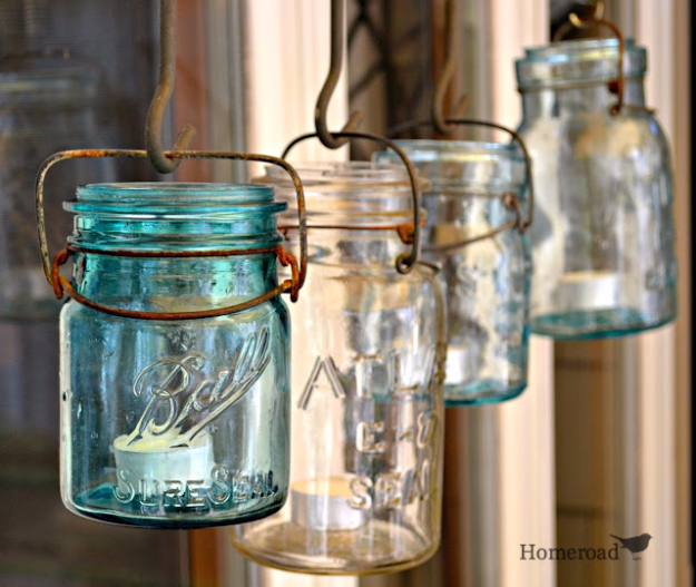 DIY Farmhouse Style Decor Ideas - Rustic Canopy Jars - Creative Rustic Ideas for Cool Furniture, Paint Colors, Farm House Decoration for Living Room, Kitchen and Bedroom #diy #diydecor #farmhouse #countrycrafts