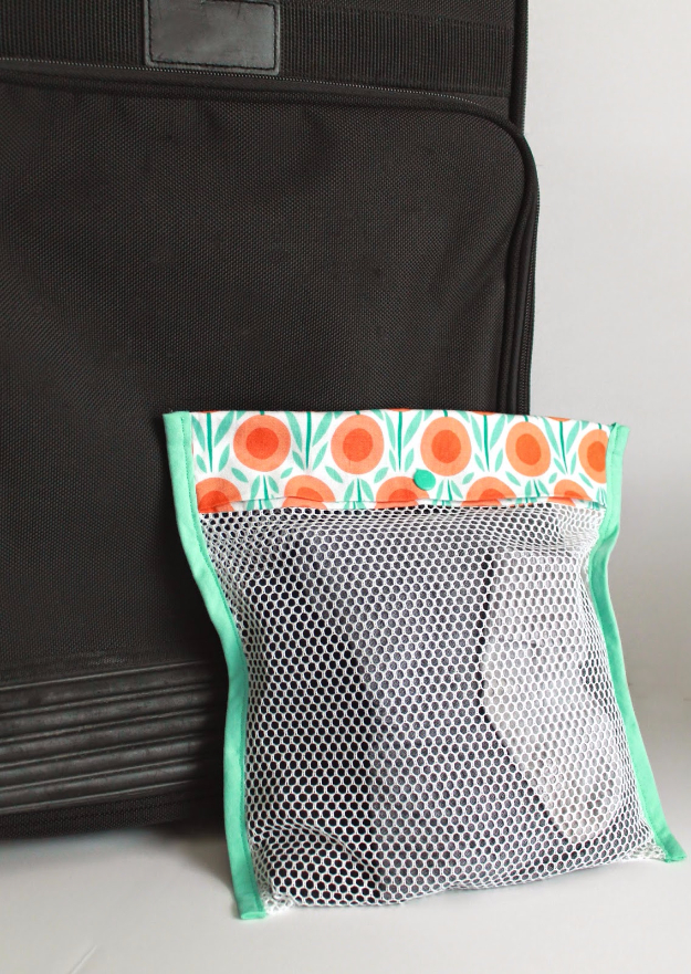 Sewing Crafts To Make and Sell - Simple Mesh Laundry Bag - Easy DIY Sewing Ideas To Make and Sell for Your Craft Business. Make Money with these Simple Gift Ideas, Free Patterns, Products from Fabric Scraps, Cute Kids Tutorials #sewing #crafts
