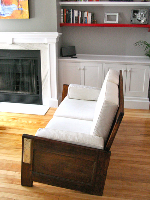 DIY Sofas and Couches - Sofa Made From Old Doors - Easy and Creative Furniture and Home Decor Ideas - Make Your Own Sofa or Couch on A Budget - Makeover Your Current Couch With Slipcovers, Painting and More. Step by Step Tutorials and Instructions #diy #furniture
