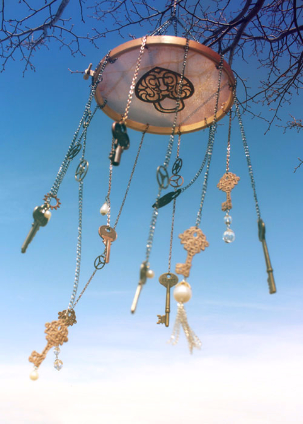 DIY Wind Chimes - Steampunk Wind Chimes - Easy, Creative and Cool Windchimes Made from Wooden Beads, Pipes, Rustic Boho and Repurposed Items, Silverware, Seashells and More. Step by Step Tutorials and Instructions http://diyjoy.com/diy-wind-chimes