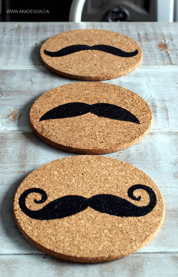 Cheap Crafts To Make and Sell - Stenciled Cork Trivets - Inexpensive Ideas for DIY Craft Projects You Can Make and Sell On Etsy, at Craft Fairs, Online and in Stores. Quick and Cheap DIY Ideas that Adults and Even Teens Can Make on A Budget #diy #crafts #craftstosell #cheapcrafts