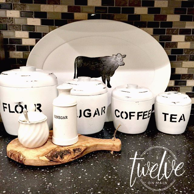 DIY Farmhouse Style Decor Ideas - Stylish Farmhouse Canisters - Creative Rustic Ideas for Cool Furniture, Paint Colors, Farm House Decoration for Living Room, Kitchen and Bedroom #diy #diydecor #farmhouse #countrycrafts