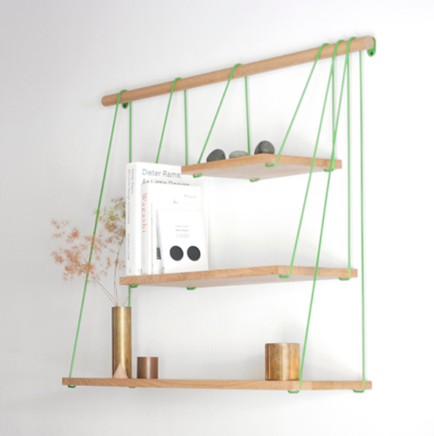DIY Shelves and Do It Yourself Shelving Ideas - Suspension Bridge Inspired Shelf - Easy Step by Step Shelf Projects for Bedroom, Bathroom, Closet, Wall, Kitchen and Apartment. Floating Units, Rustic Pallet Looks and Simple Storage Plans #diy #diydecor #homeimprovement #shelves