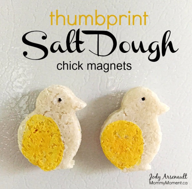 Cheap Crafts To Make and Sell - Thumbprint Salt Dough Magnets - Inexpensive Ideas for DIY Craft Projects You Can Make and Sell On Etsy, at Craft Fairs, Online and in Stores. Quick and Cheap DIY Ideas that Adults and Even Teens Can Make on A Budget #diy #crafts #craftstosell #cheapcrafts