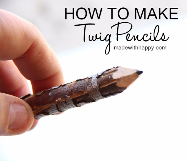 DIY Projects to Make and Sell on Etsy - Twig Pencils - Learn How To Make Money on Etsy With these Awesome, Cool and Easy Crafts and Craft Project Ideas - Cheap and Creative Crafts to Make and Sell for Etsy Shop #etsy #crafts