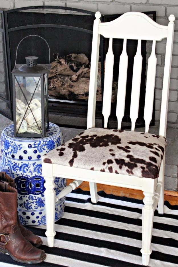 DIY Seating Ideas - Udder Madness Chair Makeover - Creative Indoor Furniture, Chairs and Easy Seat Projects for Living Room, Bedroom, Dorm and Kids Room. Cheap Projects for those On A Budget. Tutorials for Cushions, No Sew Covers and Benches