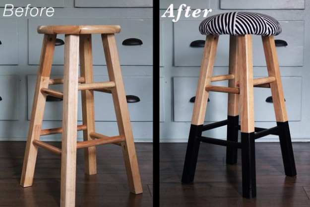 DIY Seating Ideas - Upholstered Bar Stools - Creative Indoor Furniture, Chairs and Easy Seat Projects for Living Room, Bedroom, Dorm and Kids Room. Cheap Projects for those On A Budget. Tutorials for Cushions, No Sew Covers and Benches