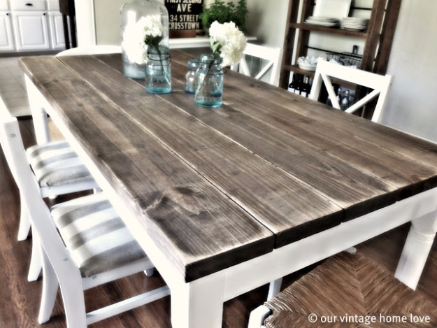 DIY Dining Room Table Projects - Vintage Dining Room Table Tutorial - Creative Do It Yourself Tables and Ideas You Can Make For Your Kitchen or Dining Area. Easy Step by Step Tutorials that Are Perfect For Those On A Budget #diyfurniture #diningroom