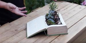 Lovely Vintage Book Fairy Garden is Such a Unique Idea!