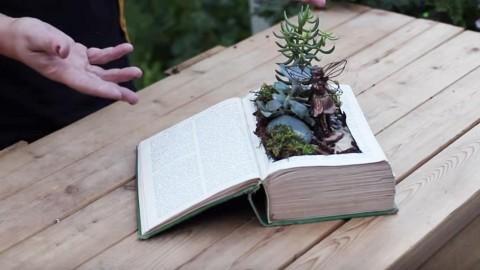 DIY Vintage Book Fairy Garden | DIY Joy Projects and Crafts Ideas