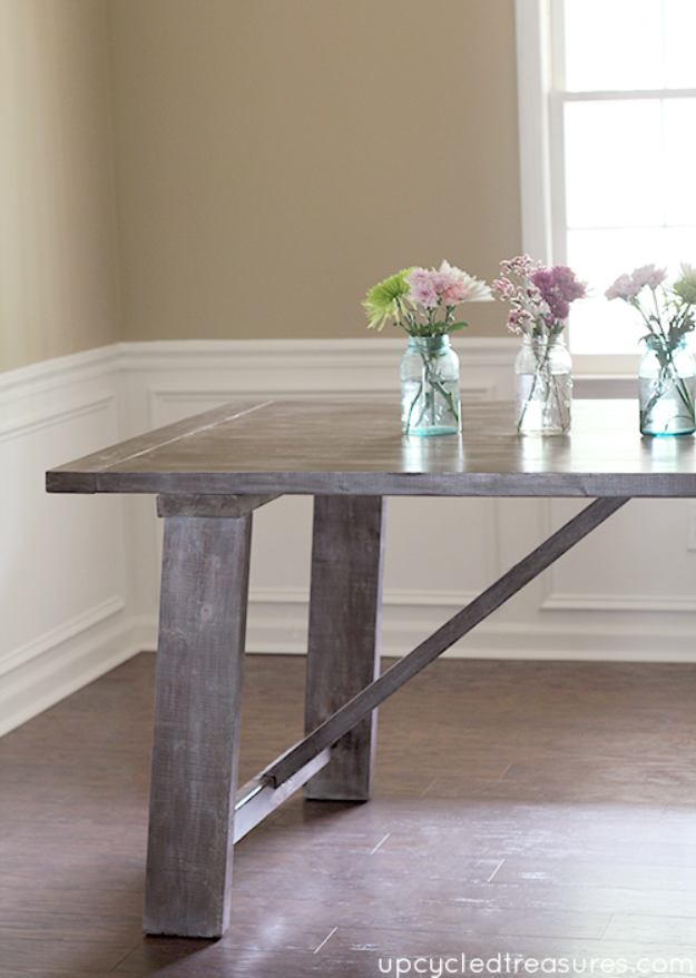 DIY Dining Room Table Projects - West Elm Inspired Dining Table - Creative Do It Yourself Tables and Ideas You Can Make For Your Kitchen or Dining Area. Easy Step by Step Tutorials that Are Perfect For Those On A Budget #diyfurniture #diningroom