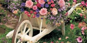 Charming Rustic Wheelbarrow Garden Planter
