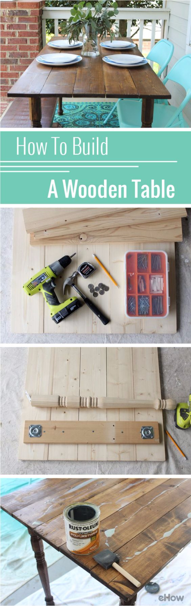 DIY Dining Room Table Projects - Wooden Dining Table Tutorial - Creative Do It Yourself Tables and Ideas You Can Make For Your Kitchen or Dining Area. Easy Step by Step Tutorials that Are Perfect For Those On A Budget #diyfurniture #diningroom