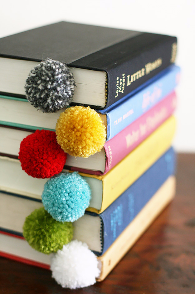 DIY Projects for Teenagers - Yarn Ball Bookmark - Cool Teen Crafts Ideas for Bedroom Decor, Gifts, Clothes and Fun Room Organization. Summer and Awesome School Stuff