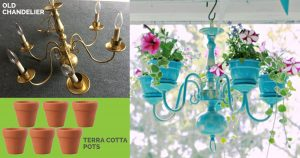 How to Makeover An Old Chandelier Into A Planter