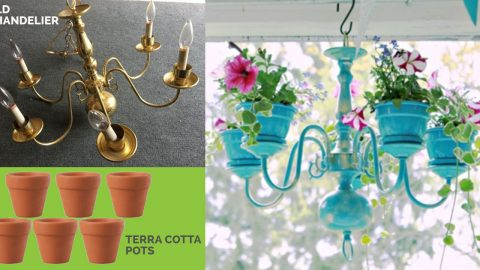 How to Makeover An Old Chandelier Into A Planter   DIY Joy Projects and Crafts Ideas