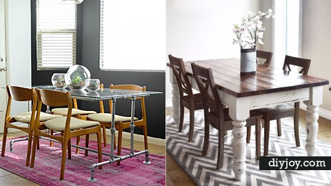 38 DIY Dining Room Tables | DIY Joy Projects and Crafts Ideas